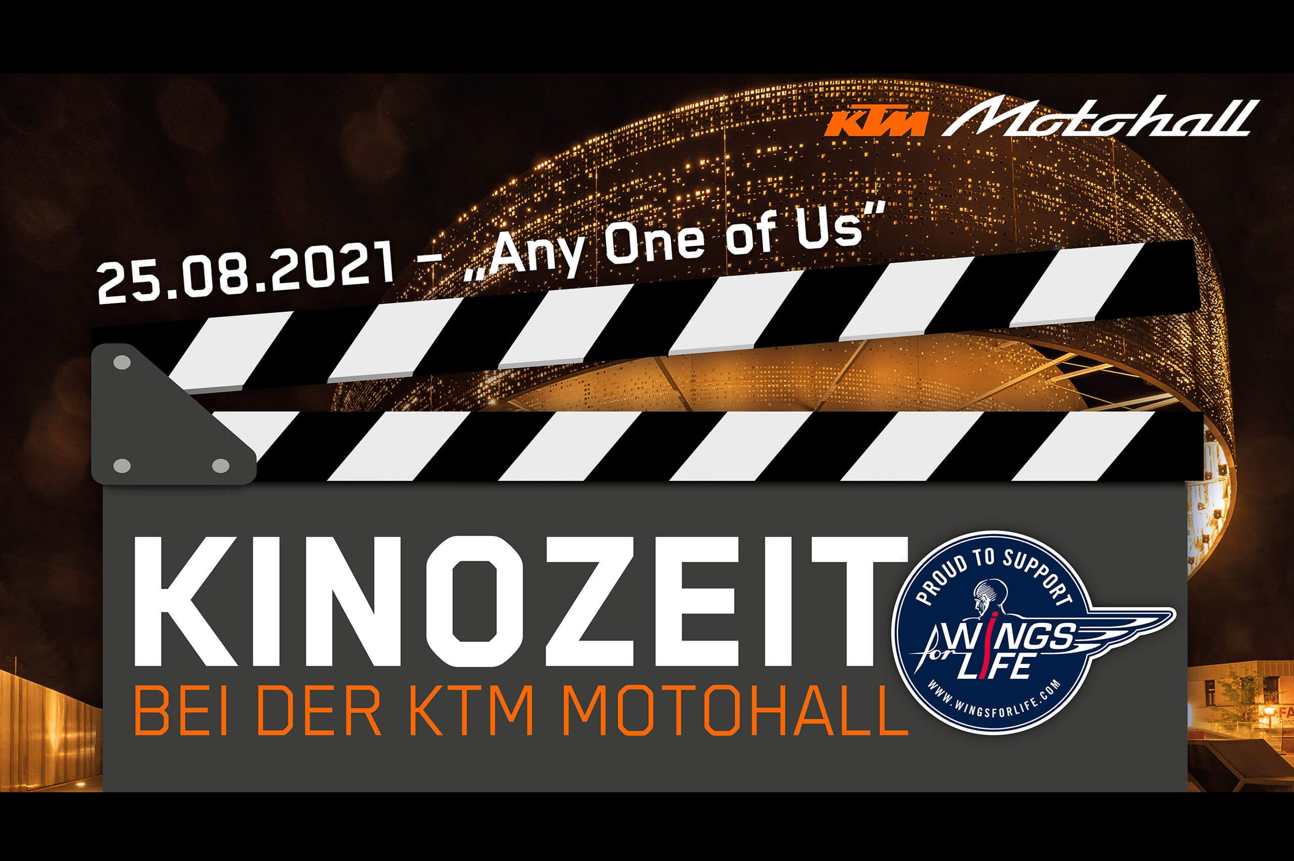 WINGS FOR LIFE KINOZEIT IN DER KTM MOTOHALL